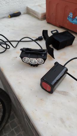 Lanterna 3 led bareria btt/ciclismo/bicicleta
