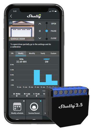 Shelly 2.5relé estore automáticodomótica