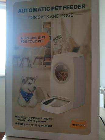 Alimentador automático para cães e gatos, dispensador