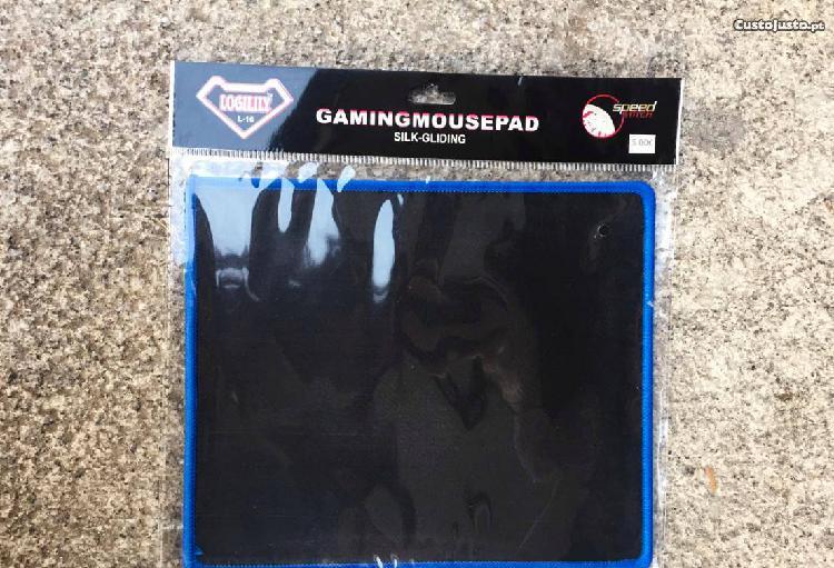 Tapete de rato gaming - preto/azul - novo