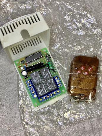 Transmissor + receptor 4ch switch 12dc comando 433mhz