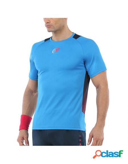 Camisa azul Bullpadel Uciel 2020 - Roupa padel Bullpadel