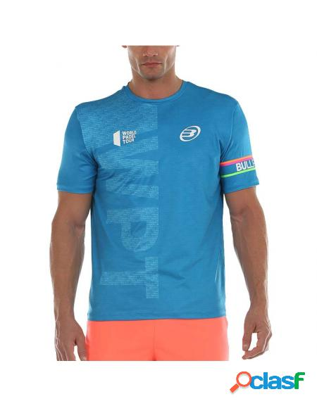 Camiseta azul bullpadel salbur 2020 - roupa padel bullpadel