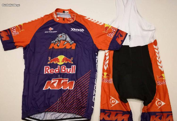 Equipamento ciclismo ktm / red bull