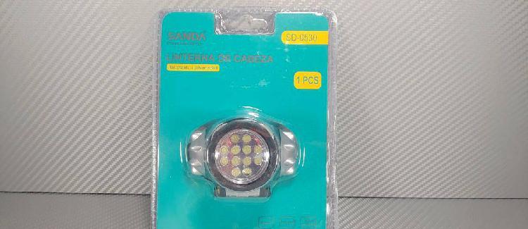 Lanterna 12 leds 300lm zoom excelente material