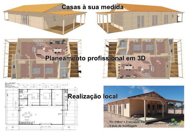 Serviços de construção civil por casas de madeira -