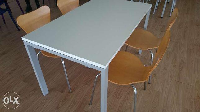 Mesa de cozinha melamina branca nova