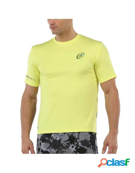 Bullpadel union 2020 camiseta amarela - roupa padel bullpadel