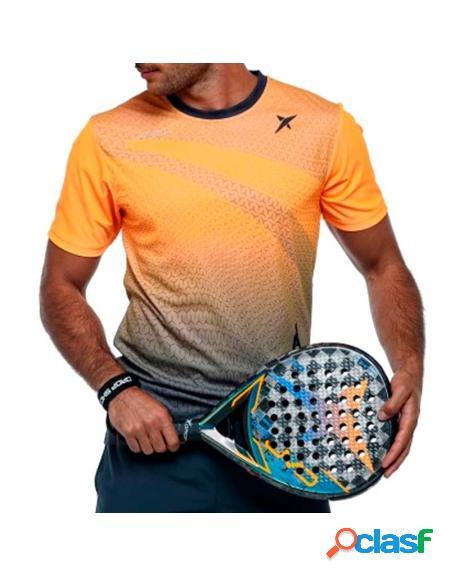 Drop Shot Argon Print 2020 Camiseta Laranja - Drop Shot padel roupas