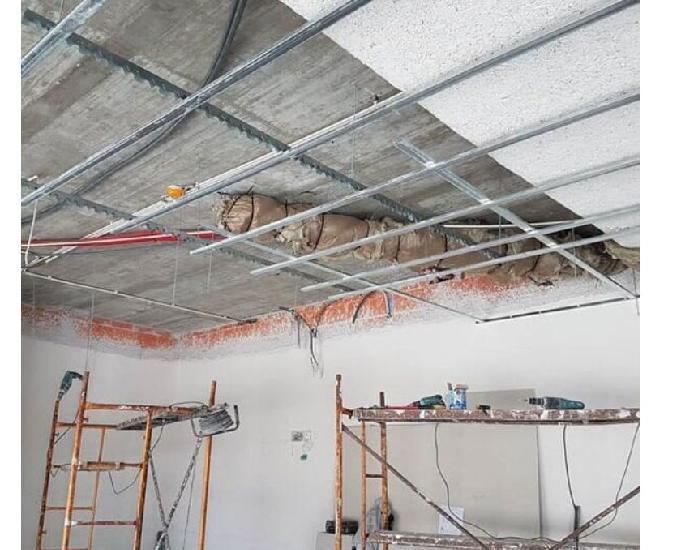 Remodelações gerais, tetos falsos e divisórias em pladur