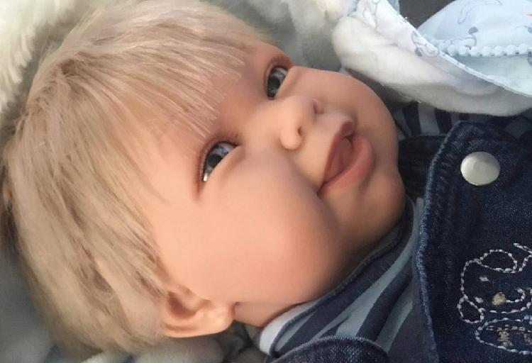Boneca imitação bebé reborn 55cm