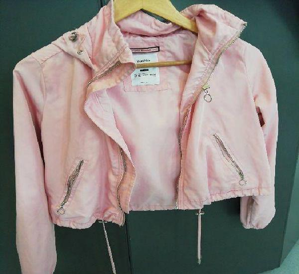 Casaco impermeavel rosa