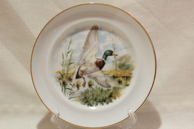 Prato motivo caça pato bravo 18 cm vista alegre 1980