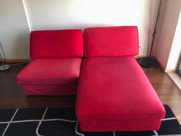 Sofá chaise longue ikea kivic