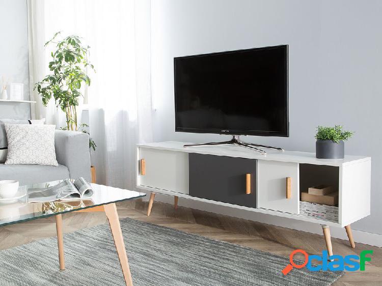 Mesa de tv branca e cinza indiana