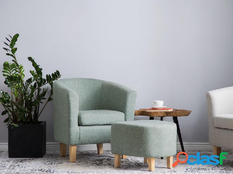 Poltrona verde - com repousa-pés - holden