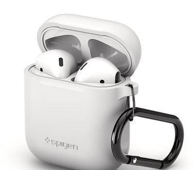 Capa traseira spigen para apple airpods branco