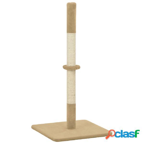 Vidaxl poste arranhador para gatos sisal 40x40x80 cm bege