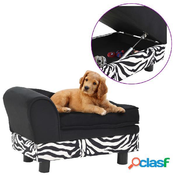 Vidaxl sofá para cães 57x34x36 cm pelúcia preto