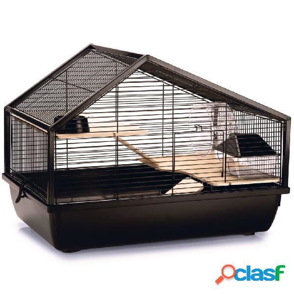 Beeztees gaiola para roedores boas 58x38x43,5 cm metal preto