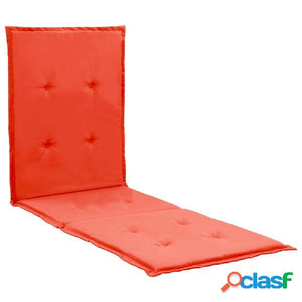 Vidaxl almofadão para espreguiçadeira 180x55x3 cm vermelho