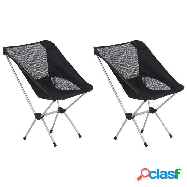 Vidaxl cadeiras campismo dobráveis c/ saco 2 pcs 54x50x65 cm alumínio