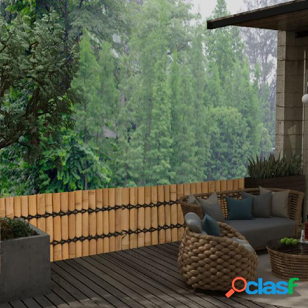 Vidaxl cerca de jardim em bambu 170x50 cm