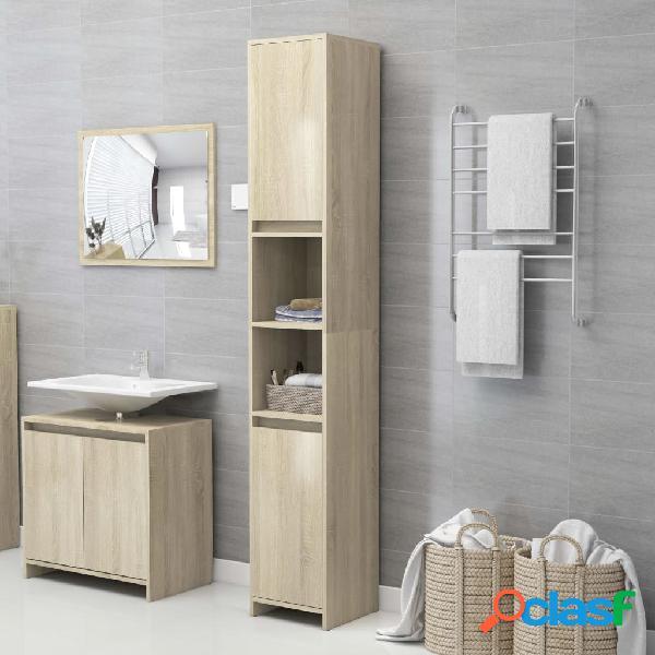 Vidaxl armário casa de banho 30x30x183,5 cm contrapl. carvalho sonoma