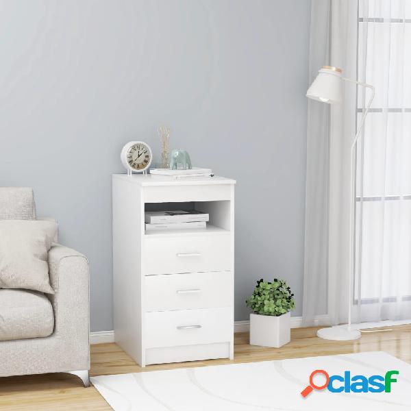 Vidaxl armário com gavetas 40x50x76 cm contraplacado branco