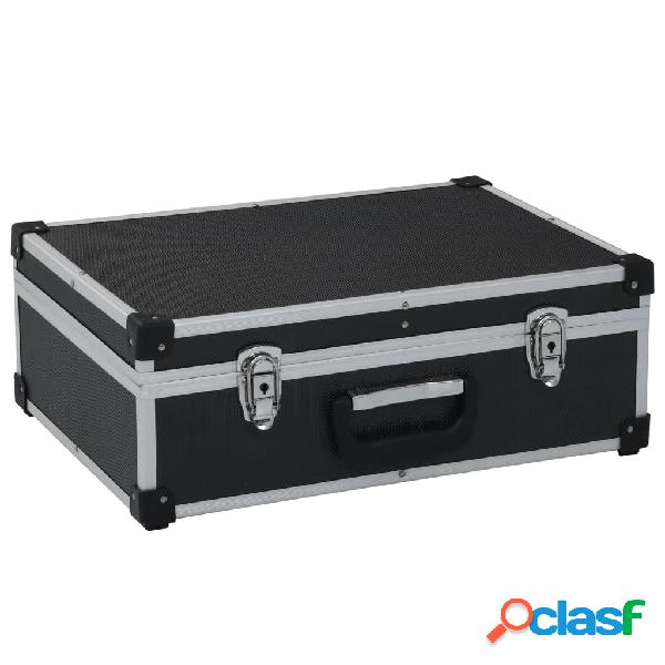 Vidaxl mala de ferramentas 46x33x16 cm alumínio preto