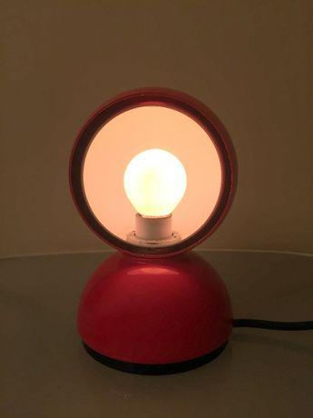 Candeeiro de mesa artemide modelo modelo eclisse vermelho