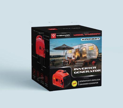 Gerador inverter silencioso portatil a gasolina 2000w