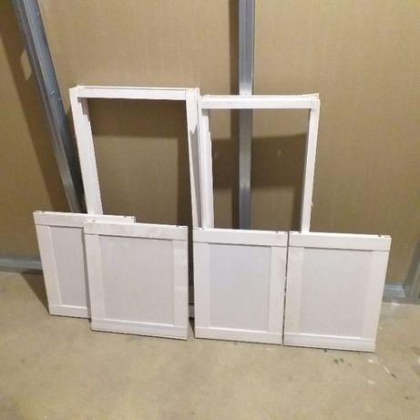 Portas e armações em aluminio branco para arrumação