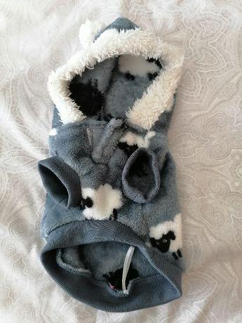 Roupa (inverno) cão pequeno. tamanho: 19cm