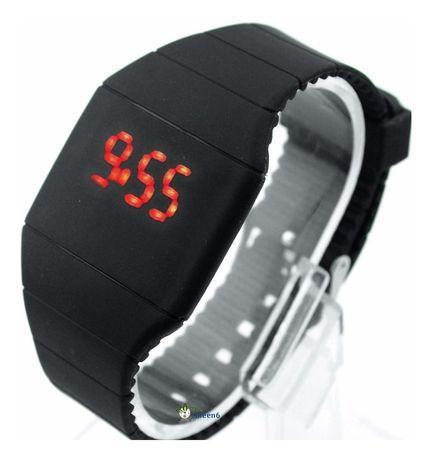 Relógio led touch preto (novo) portes grátis