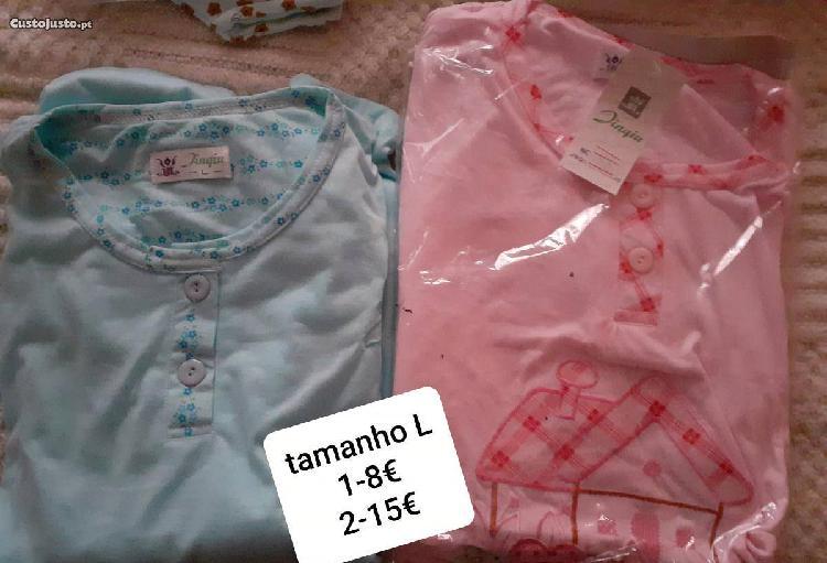 """Pijama l, """"novo e embalado"""", primavera / outuno"""