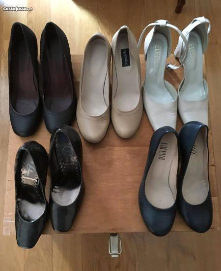 5 pares de sapatos tamanho 35