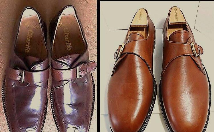 Sapatos tamanho 43 novos em pele