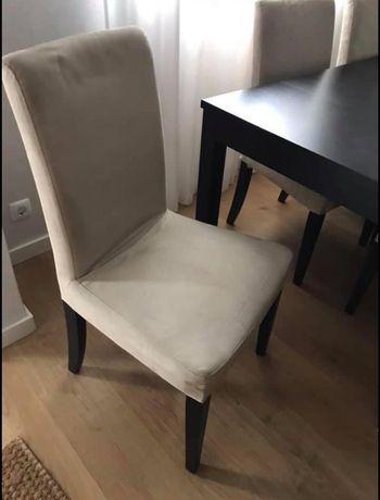 Cadeiras ikea com capa