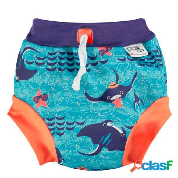 Close parent manta ray calções de banho tamanho m