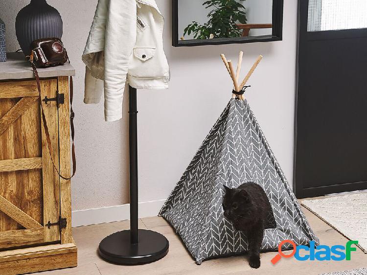 Cama para animal de estimação em cinza 60 x 60 cm arpacik