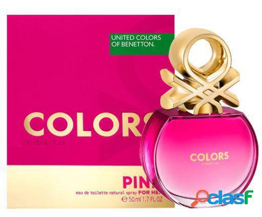 Benetton colori rosa eau de toilette vapo 50 ml 200 gr