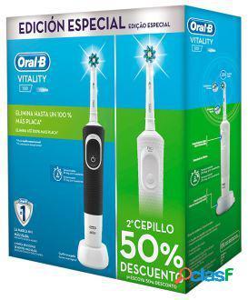 Oral b escova eléctrica vitality cross action 2 unidades