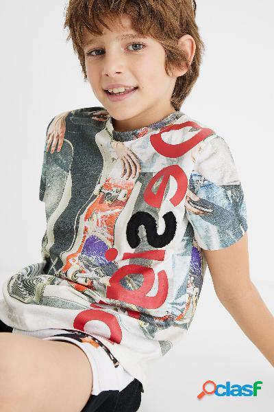 T-shirt skate 100% algodão - white - 13/14