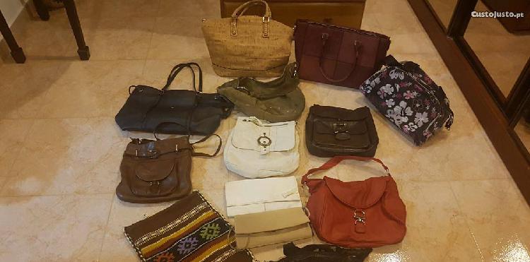 Lote de 13 malas, sacos, bolsas, saldos
