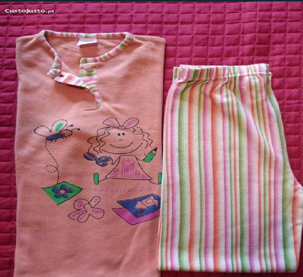 Pijama 14 anos ts 100% algodão