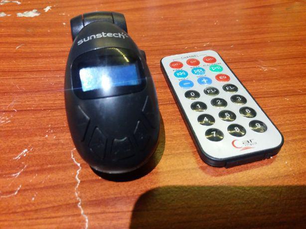 Transmissor fm com pen, cartão sd e entrada jack