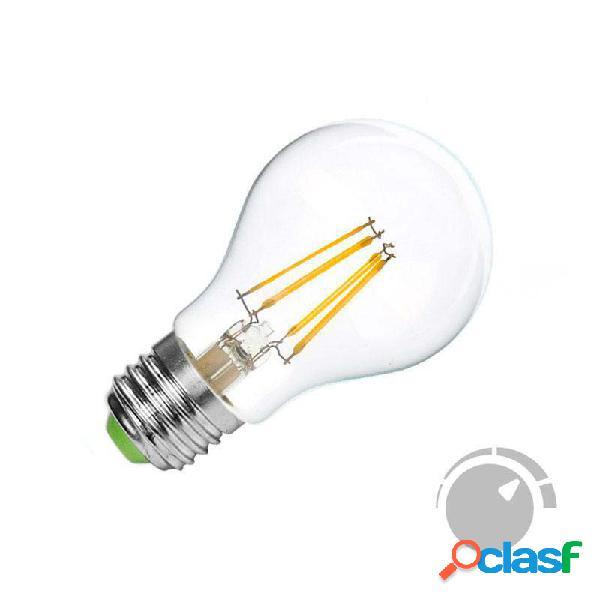 Lâmpada led e27 cob filamento 4w regulável branco quente 2700k. loja online ledbox. lâmpadas led > lâmpadas led e27