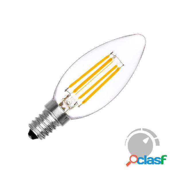 Lâmpada filamento led vela e14 cob 4w regulavél branco quente 2700k. loja online ledbox. lâmpadas led > lâmpada led e14