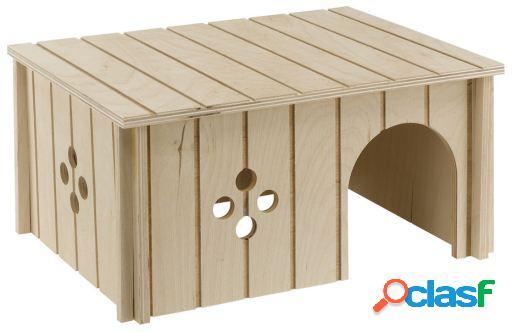 Toca para pequenos animais feita de madeira ferplast